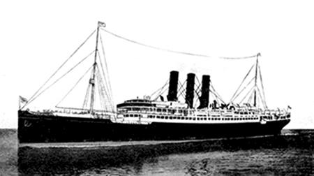 Photo of the steamship Columbia on which Margaret Jane McCartney and family traveled