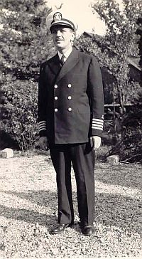 Photo of James McCartney in the Uniform of the U. S. Merchant Marine